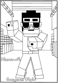 Free Printable Minecraft Gangnam Style Coloring Page For Kidsfree Online Print Out Cartoon Pages Kidsminecraft