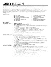 Resume Template Construction Job Description Chemist Worker Formulation Examples And Samples Sample Cv Project