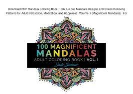 Download PDF Mandala Coloring Book 100 Unique Designs And S