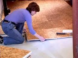 Preparing Osb Subfloor For Tile by Dricore Subfloor Installation Video Youtube