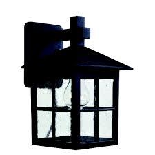 seeded glass outdoor wall light black kenroy home lighting