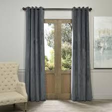 Bed Bath Beyond Blackout Curtain Liner by Exclusive Fabrics Natural Grey Grommet Velvet Blackout Curtain