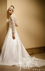Morning Classic A Line Vintage Wedding Dress With Sleeves TBQW