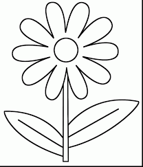 Simple Spring Flower Coloring Pages