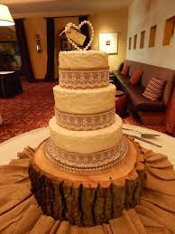 Burlap And Lace 3 Tier Rustic Wedding Cake For Audra Brian 10 Inch 8in 6in 2 Layer Rounds All Homemade Buttercream With A Style