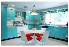 Retro Kitchen With Geneva Metal Cabinets