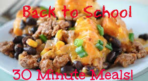 Quick Family Dinner Ideas Back To School