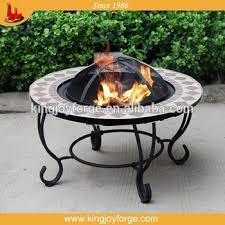 kingjoy top sales outdoor mosaic ceramic tile top table pit