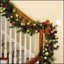 Endearing-christmas-hallway-decoration-white-wooden-stained ... How To Hang Garland On Staircase Banisters Oh My Creative Banister Christmas Ideas Decorating Decorate 20 Best Staircases Wedding Decoration Floral Interior Do It Yourself Stairways Southern N Sassy The Stairs Uncategorized Stair Christassam Home Design Decorations Billsblessingbagsorg Trees Show Me Holiday Satsuma Designs 25 Stairs Decorations Ideas On Pinterest Your Summer Adams Unique Garland For