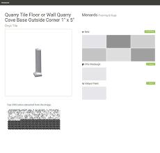 Menards White Subway Tile 3x6 by Quarrybasics Abrasive Quarry Bullnose Outside Corner 6