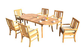 Amazon.com : 7 PC A Grade Outdoor Patio Teak Dining Set - 94