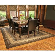 IHF Home Decor Country Style Braided Jute Rug Rectangle Area Accent Floor Carpet 20 X 30 Cappuccino Design