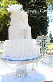Finish Your Cake hand made mercury glass pearl and miror cake