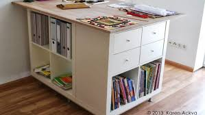 bureau plan de travail ikea une table de couture sur mesure avec kallax bidouilles ikea