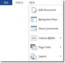 Read Mode In Word 2013