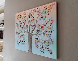 DIY Crafts For Home Decor Button Tree Work