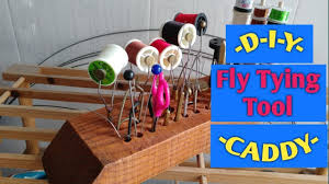 Fly Tying Table Woodworking Plans by How To Make A Fly Tying Station Tool Caddy From Wood Diy Youtube