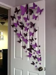 Butterfly Wall Decor Ideas Doubtful Decoration Interior Design For Supreme Implausible Best 25 On Pinterest