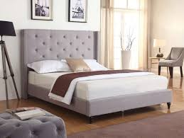 Wayfair Upholstered Bed by Bedroom Modern Wayfair Upholstered Bed With Gray Tufted Headboard
