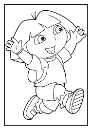 Happy Dora Coloring Pages For Kids