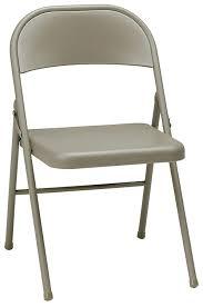 MECO 4-Pack All Steel Folding Chair, Cinnabar Frame