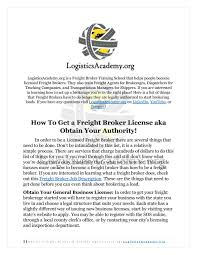 100 How To Become A Truck Broker To Become A Freight Broker Legal Requirements Logisticsacademy