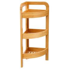 bambusregal mit 3 ablagen für das badezimmer bambusmöbel badmöbel emako