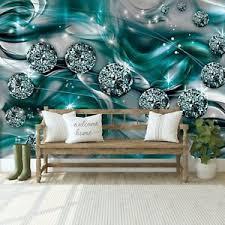 vlies fototapete 3d abstrakt kunst diamant blau schlafzimmer