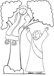 Zacchaeus Coloring Pages Hello Kitty