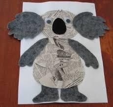 Koala Newspaper Collage