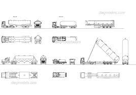 100 Free Truck Tanker Truck Set DWG Free CAD Blocks Download