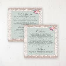 Rustic Farmhouse Wedding Info Insert Card Personalised Front Back