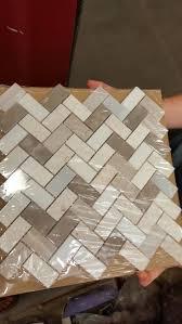 Herringbone Backsplash Tile Home Depot by Kitchen Lowes Backsplash In Beige And Grey Herringbone Wall Tile