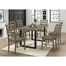 Walker Edison Furniture Company 7-Piece Rustic Wood Dining Set ... Top 30 Great Expandable Kitchen Table Square Ding Chairs Unique Entzuckend Large Rustic Wood Tables Design And Depot Canterbury With 5 Bench Room Fniture Ashley Homestore Hcom Piece Counter Height And Set Rustic Wood Ding Table Set Momluvco Beautiful Abcdeleditioncom Home Inviting Ideas Nottingham Solid Black Round Dark W Custom