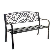 Ebay Patio Furniture Uk by Garden Metal Bench 3 Seater Cast Iron Backrest Outdoor Furniture