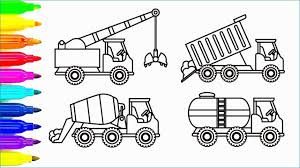 100 Construction Trucks Video Crane Truck Coloring Pages Inspirational Car And Truck Coloring