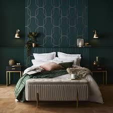 palais green gold wallpaper zimmer farben