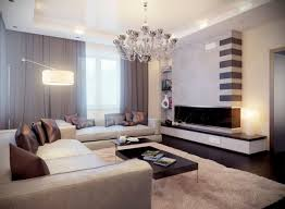 glamorous neutral modern living room with wooden floor and beige