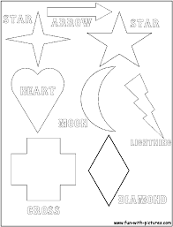 Simple Shapes Coloring Page