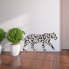 Wall Stencils Abstract Leopard Template Easy DIY Decor