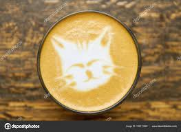Cat Latte Art Close Up Of Coffee Foam Photo By Denisfilm