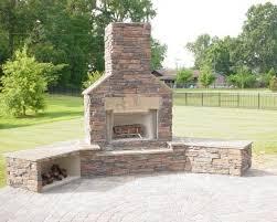 Nice Decoration Outdoor Brick Fireplace Winning Outdoor Fireplace