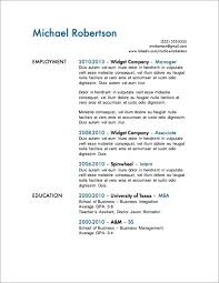 Resume Templates For 1 Year Experienced Plus Simple One Page Design To Prepare Astonishing