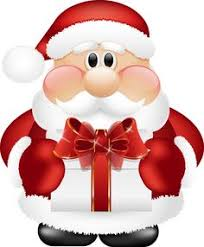 Cute Santa Claus with Gift PNG Clipart Jul Pinterest