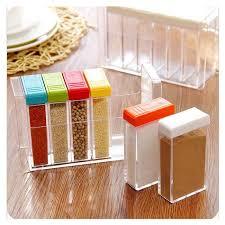 boite de rangement cuisine cuisine fournit l assaisonnement boîte de rangement 6 ensembles