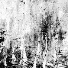 Old Memories Black And White Abstract Art By Laura Gomez Square