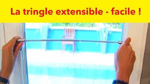 tringles rideaux sans percer la tringle autobloquante extensible bricolage malin gifi