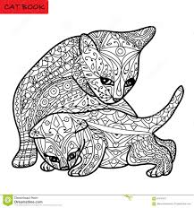 Royalty Free Vector Download Cat Mother And Her Kitten