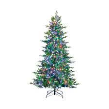 7 Ft White Pre Lit Christmas Tree by Fir Grswd Tree3080lite7 U0027 Christmas Trees Ace Hardware