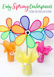 The Craft Patch Colorful Easy Inexpensive Spring Party Centerpieces